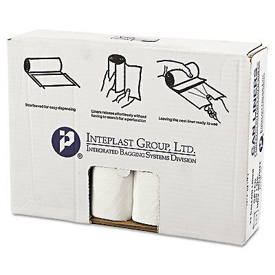 Inteplast Group High-Density Can Liner 33 x 39 33gal 16mic Clear 25/Roll 10