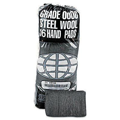 Gmt Industrial-Quality Steel Wool Hand Pad #0000 Super Fine 16/Pack 192/Carton