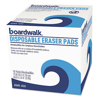 Boardwalk Disposable Eraser Pads 10/Box 16 Boxes/Carton 400CT
