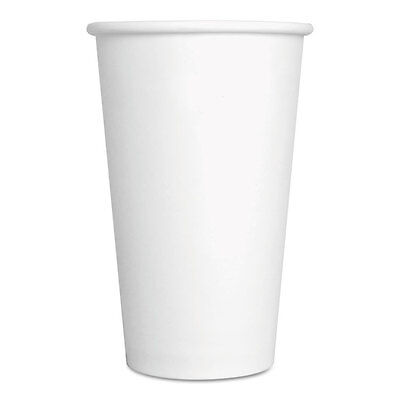 GEN Paper Hot Cups 16 oz White 1000/Carton 16HOTCUPWH