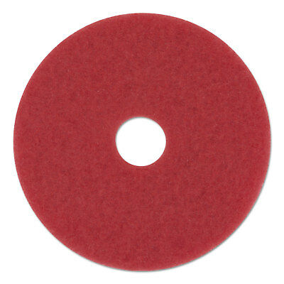 "Boardwalk Standard Buffing Floor Pads 12"" Diameter Red 5/Carton 4012RED"