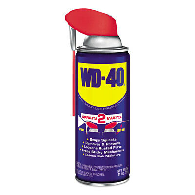 WD-40 Smart Straw Spray Lubricant, 11 oz. Aerosol Can, 12/Carton 490040
