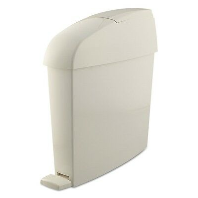 Rubbermaid Commercial Sanitary Bin Rectangular Plastic 3 gal White 750243