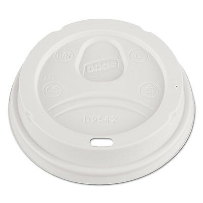 Dixie Dome Drink-Thru Lids Fits 12 oz. & 16 oz. Paper Hot Cups White 100/Pack