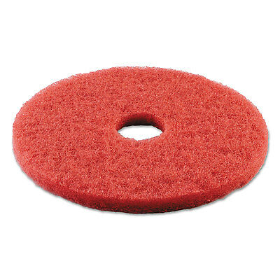 "Boardwalk Standard Buffing Floor Pads 14"" Diameter Red 5/Carton 4014RED"