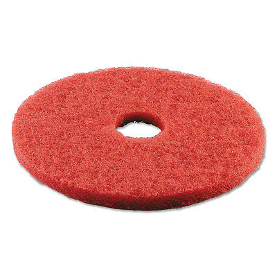 "Boardwalk Standard Buffing Floor Pads 18"" Diameter Red 5/Carton 4018RED"