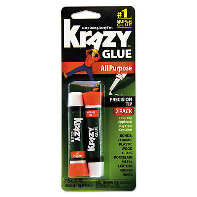 All Purpose Krazy Glue 2 g Clear 2 per pack KG517