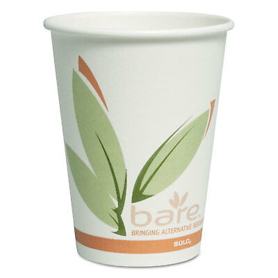 Dart Bare by Solo Eco-Forward Recycled Content PCF Paper Hot Cups 12 oz 300