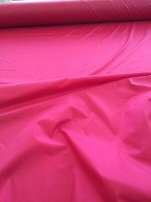 """10 Mtrs 64""""  Wide Red Non Ripstop Waterproof Windproof Pertex  Fabric"""