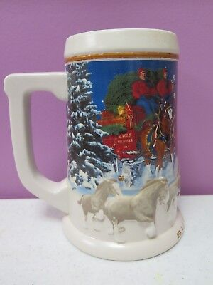 Budweiser Beer Stein Mug 2005 Holiday Clydesdales Annual