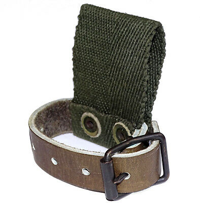 Swedish Army Leather Strap & Belt Loop axe tool shovel holder holster carrier
