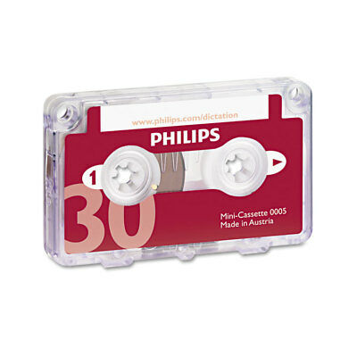 Philips Audio & Dictation Mini Cassette 30 Minutes (15 x 2) 10/Pack LFH000560