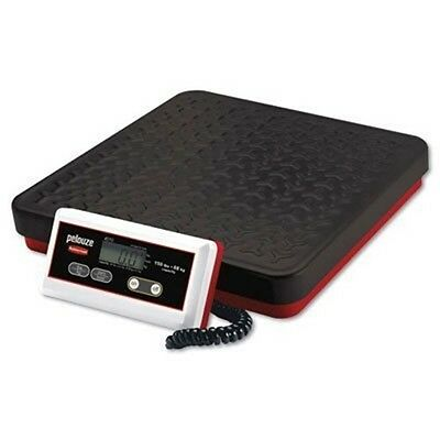 Pelouze Digital Receiving Scale 150 lb Capacity 12 x 12 1/2 Platform Black