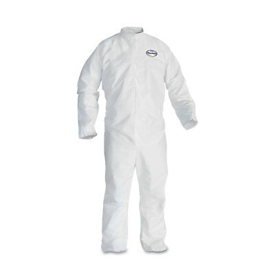 KleenGuard* A30 Elastic-Back Coveralls White X-Large 25/Case 46004
