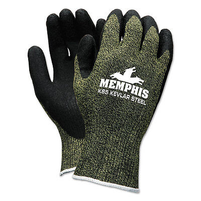Memphis KS-5 Latex Dip Gloves 13 gauge Green Black X-Large 9389XL