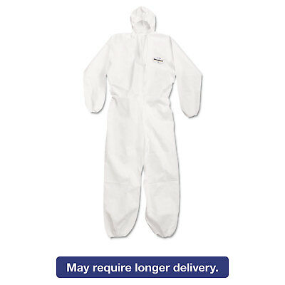 KleenGuard* A20 Breathable Particle Protection Coveralls Large White Zipper