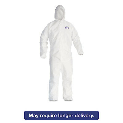 KleenGuard* A20 Elastic Back and Cuff Hooded Coveralls 4X-Large White 20/Carton