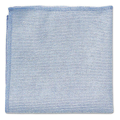 Rubbermaid Commercial Microfiber Cleaning Cloths 12 x 12 Blue 24/Pack 1820579