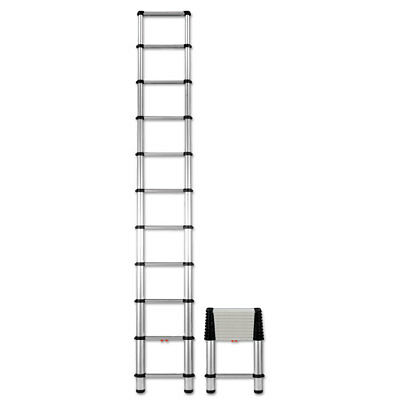 COU Telescopic Extension Ladder, 14 ft, 250lb, 10-Step, Aluminum 1400E