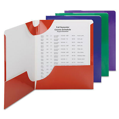 Smead Campus.org Lockit Two-Pocket Folder 11 x 8 1/2 Assorted 8/Pack 87800