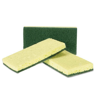 Royal Heavy-Duty Scrubbing Sponge Yellow/Green 20/Carton S740C20