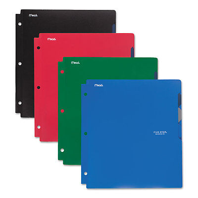 Five Star Quick-View Plastic Folder 20 Sheets 8 1/2 x 11 Assorted Traditional 4