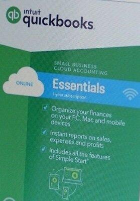 QuickBooks Online Essentials - 2018 - 1 Year subscription - NEW USERS ONLY