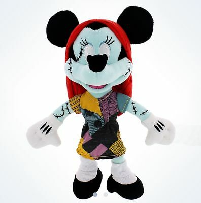 Disney Parks Nightmare Before Christmas Minnie Mouse As Sally Soft Plush Bnwts