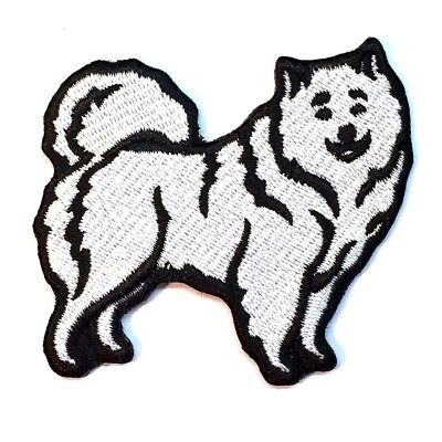 Samoyed Iron On Embroidered Patch