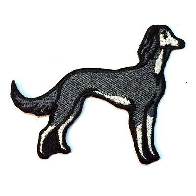 Saluki Iron On Embroidered Patch