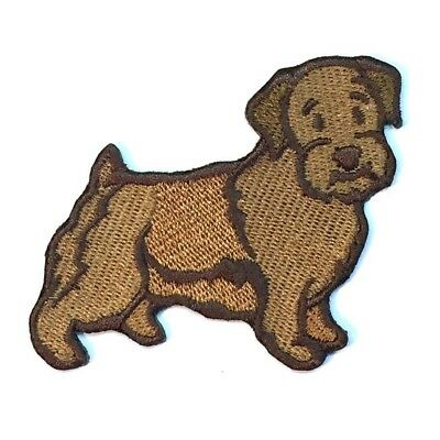 Norfolk Terrier Iron On Embroidered Patch