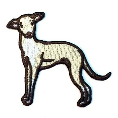Italian Greyhound Iron On Embroidered Patch