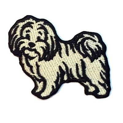 Havanese Iron On Embroidered Patch