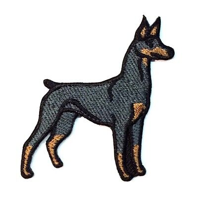 Doberman Pinscher Iron On Embroidered Patch