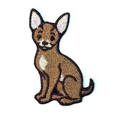 Chihuahua Iron On Embroidered Patch