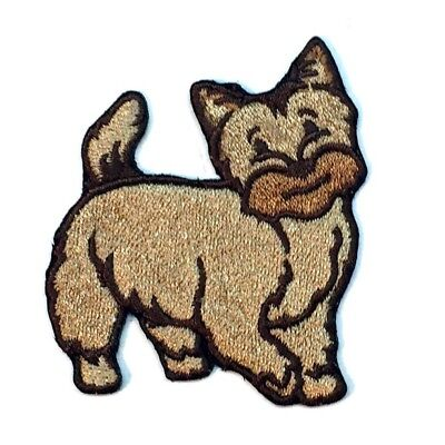 Cairn Terrier Iron On Embroidered Patch