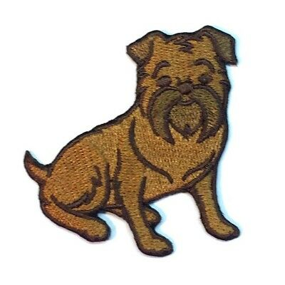Brussels Griffon Iron On Embroidered Patch