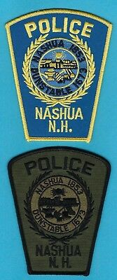 NASHUA POLICE DEPT PATCH SET ~ NEW HAMPSHIRE ~ AN AWESOME COLLECTOR's SET ~ L@@K