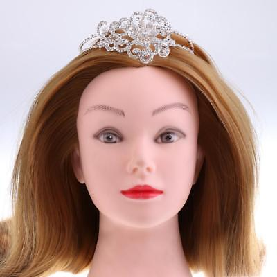 Elegangt Woman Girls Crystal Crown Tiara Headband Wedding Party Headpiece