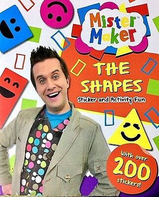 Mister Maker | The Shapes | Activity Book | Puzzles | Games| 200+ Stickers | New