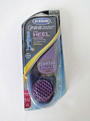 DR SCHOLLS PAIN RELIEF HEEL ORTHOTICS FOR WOMEN SIZE 5 to 12 1 PAIR