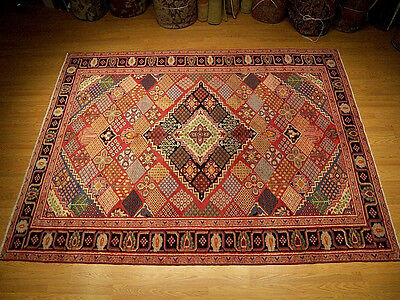 6.6 x 10 Handmade Hand Knotted Antique Persian Mahal Serapi Design Fine Wool Rug