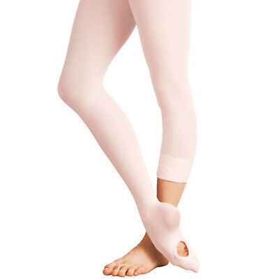 Silky Convertible Ballet Dance Tights Transition Footed or Footless Ladies Girls