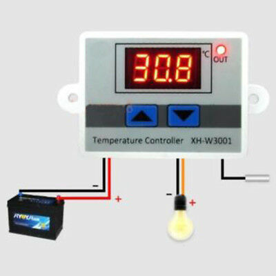 220v 12v 24v Digital LCD display Temperature Thermostat Control Switch 10A UK