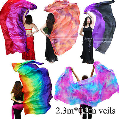 "Various 5mm paj silk belly dance silk veil for Children play 70/""x35/"" 1.8m*0.9m"