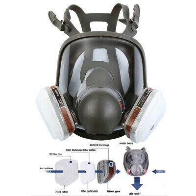 15 in 1 Facepiece Full Face Respirator 3M 6800 Gas Mask For Painting Spraying