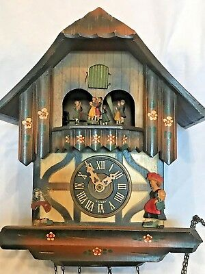 Vintage Kaiserwalzer Brahms Lullaby Trumpet Player Cuckoo Clock (for parts)