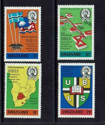 SWAZILAND....1973 10th ANNIVERSARY OF UNIVERSITY OF BOTSWANA...SET OF 4... MUH