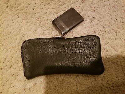 NEW Chrome Hearts LARGE leather sunglass case