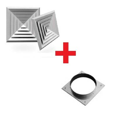 DUCT SQUARE CELILING AIR DIFFUSER/ ALUMINUM WITH ADAPTER   Mode:BD4 375x375mm